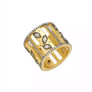 FREIDA ROTHMAN Fleur Bloom Silver & Crystal Ring